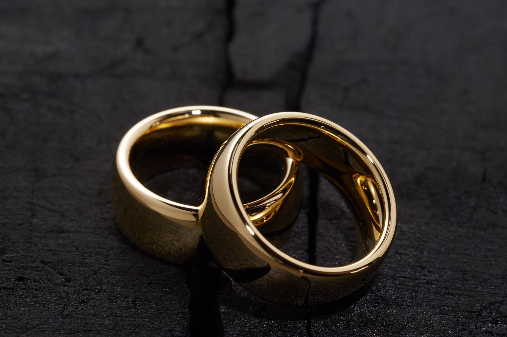 Trauringe Gold glänzend